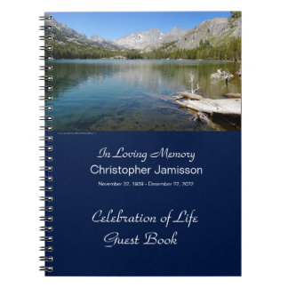 Memorial Service Guest Book, Lake Reflection Notebook