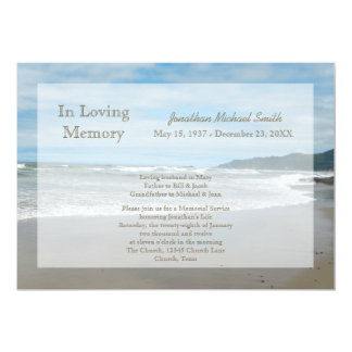 "Memorial Service Invitation 5"" X 7"" Invitation Card"