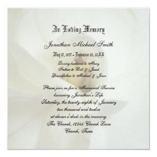 """Memorial Service Invitation Announcement 5.25"""" Square Invitation Card"""
