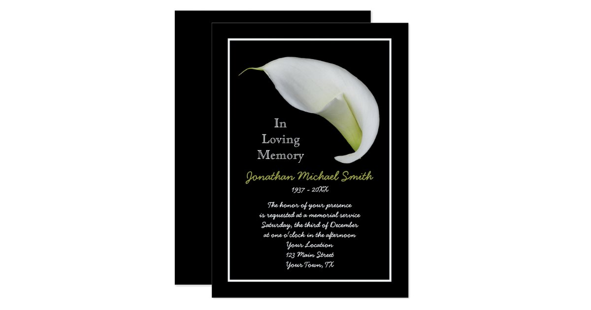 Memorial Service Invitation Announcement Template – Memorial Service Invitation Template