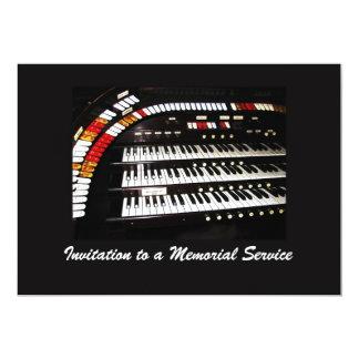 "Memorial Service Invitation Antique Organ 5"" X 7"" Invitation Card"