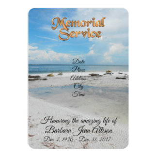 Memorial Service invitation beach