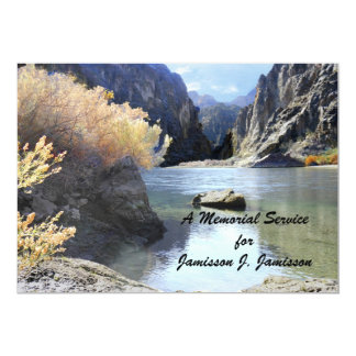 Memorial Service Invitation Beautiful Scenery Card