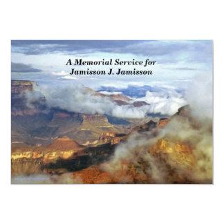 "Memorial Service Invitation, Canyon Clouds 5"" X 7"" Invitation Card"