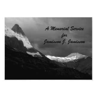 Memorial Service Invitation,  Glacier NP Sunrise Card