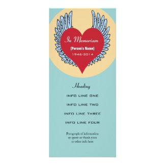 Memorial service invitation or program card