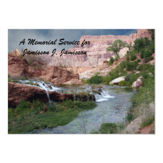Memorial Service Invitation, Unspoiled Waterfalls Card