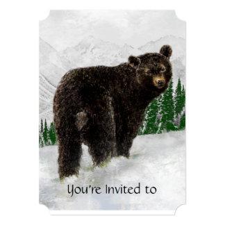 Memorial Service Invite Black Bear Snow Mtn