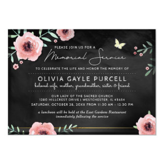 Pink Funeral Invitations & Announcements | Zazzle