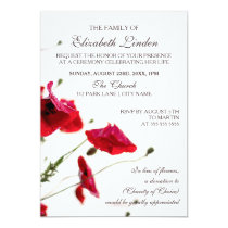 Memorial Service | Red Poppies Invitation