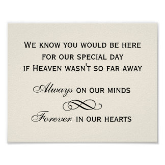 Memorial Sign | Black Script Design