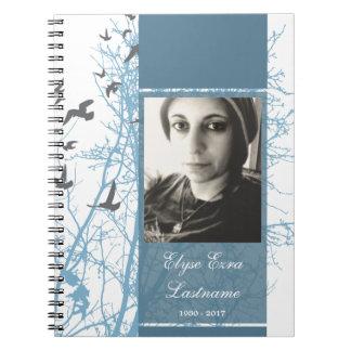 memorial silhouscreen guest book notebook