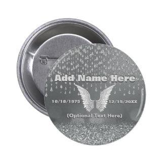 Memorial - Silver Tears Button