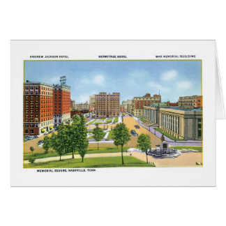 Memorial Square, Nashville, Tennessee Greeting Card