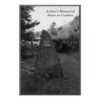 Memorial Stone de rey Arturo en Camlan Fotografías