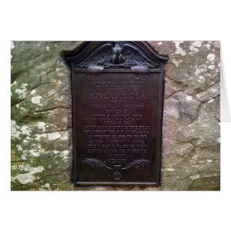 Memorial Tablet To Signal Corps U.S.A. Card