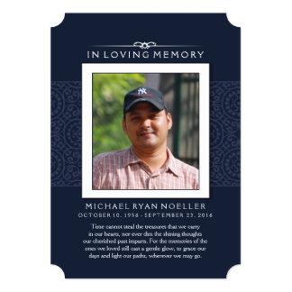 Memorial Thank You Deep Blue Photo PERHAPS POEM Card
