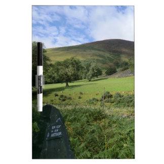 Memorial to Arthur at Camlan Battle Site Dry Erase Board