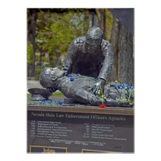 Memorial to Slain Peace Officers Poster
