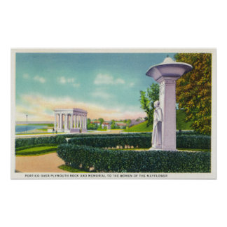 Memorial to the Mayflower Women, Portico View Poster