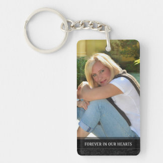 Memorial - Tree Scene Back - Missed Beyond Measure Double-Sided Rectangular Acrylic Keychain