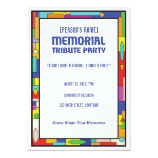 Memorial Tribute Funeral Party Card