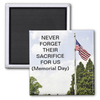 Memorial / Veterans Day Tribute 2 Inch Square Magnet