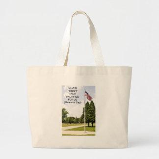 Memorial/ Veterans Day Tribute Large Tote Bag