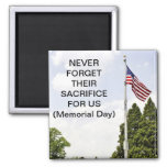 Memorial / Veterans Day Tribute Refrigerator Magnets