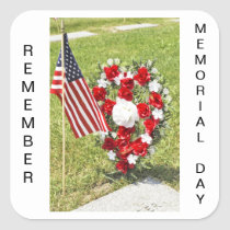 Memorial / Veterans Day Tribute Square Sticker