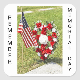 Memorial / Veterans Day Tribute Square Sticker