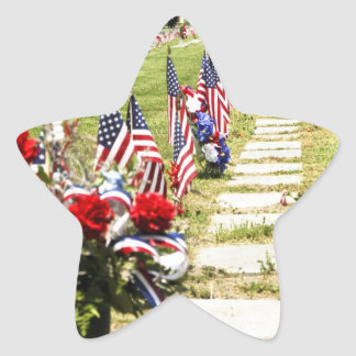 Memorial / Veterans Day Tribute Star Sticker