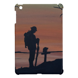 Memorial, Veternas Day, silhouette solider at grav Case For The iPad Mini