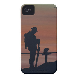 Memorial, Veternas Day, silhouette solider at grav iPhone 4 Case-Mate Case