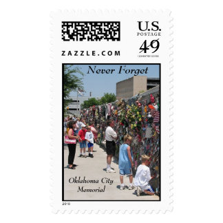 Memorial Wall, Never Forget, Oklahoma CityMemorial Postage