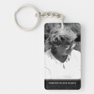 Memorial  - White Back - Missed Beyond Measure Keychain