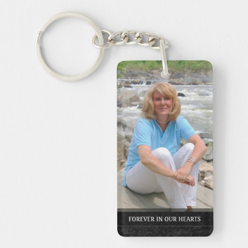 Memorial - White Back - Special Memories of You Double-sided Rectangular Acrylic Keychain