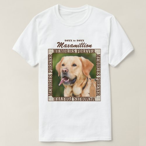 Memorialize Your Dog Custom Photo and Name T_Shirt