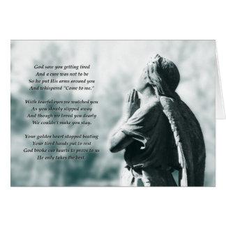 memoriam angel prayer card