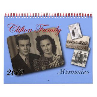 Memorias 09 de la familia de Clifton Calendarios De Pared