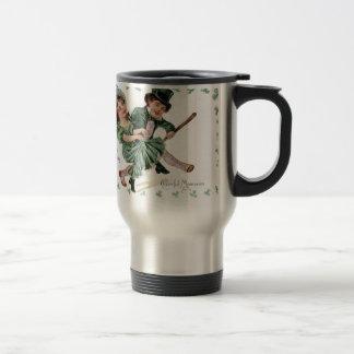 Memorias alegres del vintage taza térmica