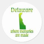 Memorias de Delaware Pegatina Redonda