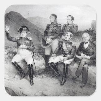 Memorias de dictado de Napoleon I a Manuel Las Pegatina Cuadrada