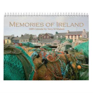 Memorias de Irlanda Calendario De Pared