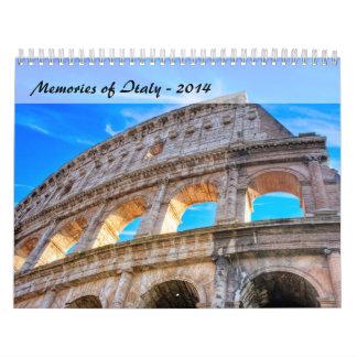 Memorias de Italia - calendario 2014