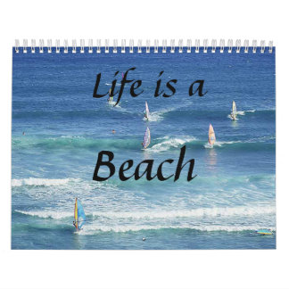 ¡Memorias de la buena vida! Sun, mar, arena y Calendario De Pared