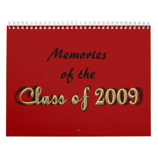 Memorias de la clase de 2009 calendario