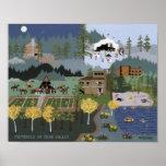 Memorias de la impresión del valle del oso poster