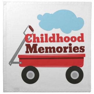 Memorias de la niñez servilleta imprimida