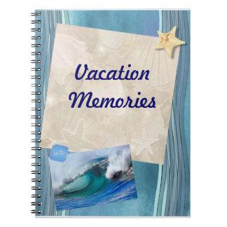 Memorias de las vacaciones libro de apuntes
